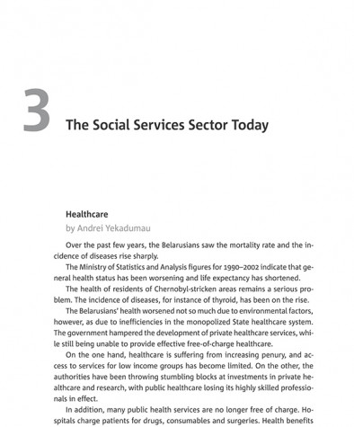 The Social Services Sector Today (Healthcare)