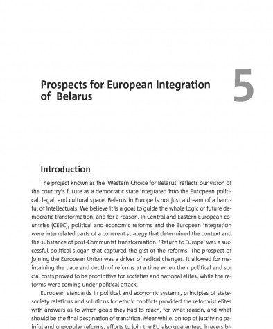 Prospects for European Integration of Belarus